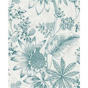 Papier peint Kenitra Botanical de Brewster, crème