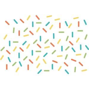 Sprinkle Rainbow Wall Art Kit