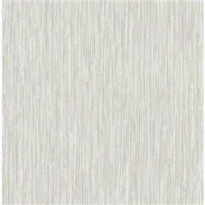 Papier peint Kofi Faux Grasscloth de Fine Décor, gris
