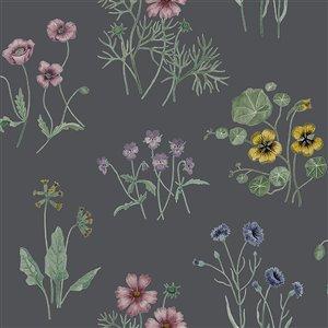 Papier peint Maj Wildflower de Midbec, bleu