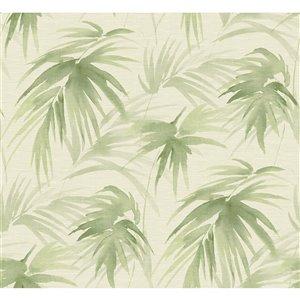 Papier peint adhésif Darlana Grasscloth de A-Street Prints, vert
