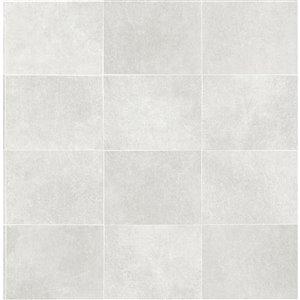 Papier peint Cecelia Geometric de Fine Decor, gris pale