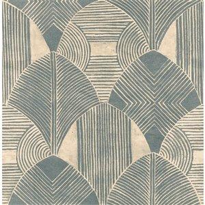 Papier peint géométrique Westport de A-Street Prints, sarcelle