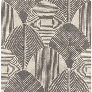 Papier peint géométrique Westport de A-Street Prints, charbon