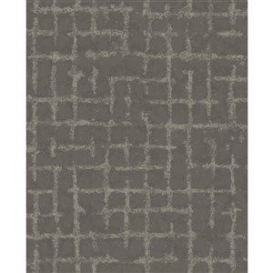 Papier peint géométrique détressé Shea de A-Street Prints, charbon
