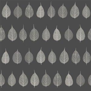 Papier peint verthouse Leaves de ESTA Home, charbon