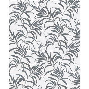 Papier peint Valentina Leaf de Marburg, gris
