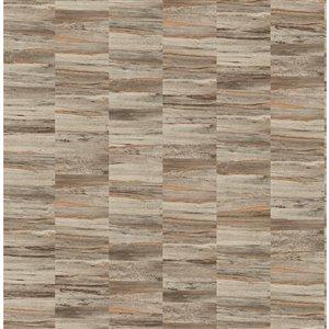 Papier peint Hugo Faux Wood de Fine Decor, brun