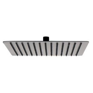 ALFI Brand Stainless Steel Square Ultra Thin Rain Shower Head - 12-in - Matte Black