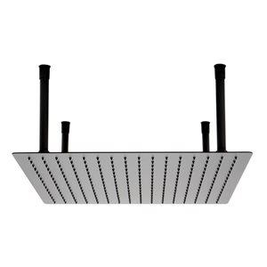 ALFI Brand Stainless Steel Square Ultra Thin Rain Shower Head - 20-in - Black Matte