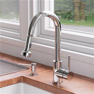 ALFI Brand Sensor Gooseneck Pull-Out Kitchen Faucet - Polished Chrome