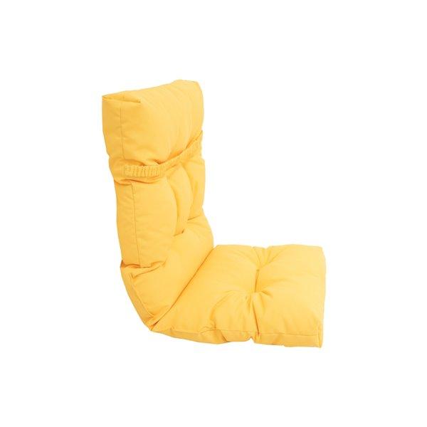 Coussin pour chaise de patio à haut dossier de Bozanto Inc., jaune pâle