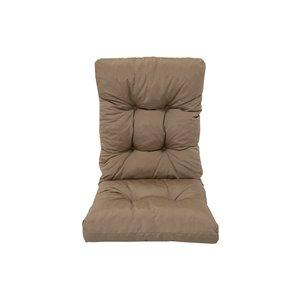 Bozanto Inc. High Back Patio Chair Cushion - Light Brown