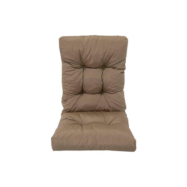 Coussin pour chaise de patio à haut dossier de Bozanto Inc., brun pâle