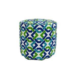 Pouf rond de Bozanto Inc., 16 po x 17 po, bleu et vert
