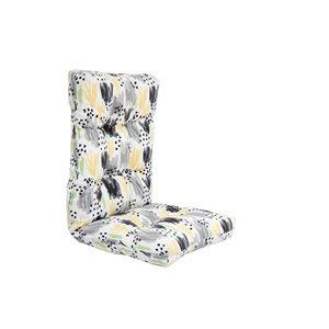 Coussin pour chaise de patio à haut dossier de Bozanto Inc., blanc et gris