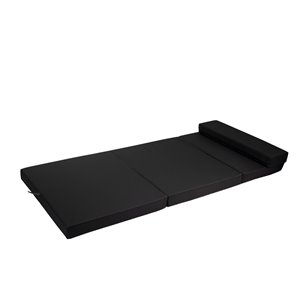 Bozanto Inc. Outdoor Folding Mattress - 72-in x 30-in - Black