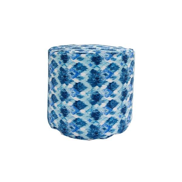 Pouf rond de Bozanto Inc., 16 po x 17 po, bleu foncé