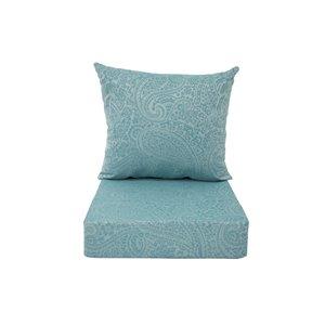 Coussin pour chaise de patio à assise profonde de Bozanto Inc., bleu