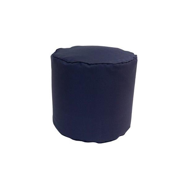 Pouf rond de Bozanto Inc., 16 po x 17 po, noir