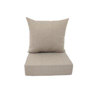 Coussin pour chaise de patio à assise profonde de Bozanto Inc., beige