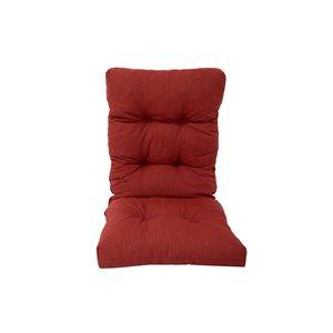 Coussin pour chaise de patio à haut dossier de Bozanto Inc., rouge foncé