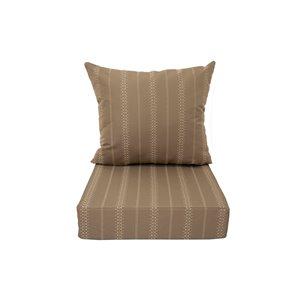 Coussin pour chaise de patio à assise profonde de Bozanto Inc., carré, beige