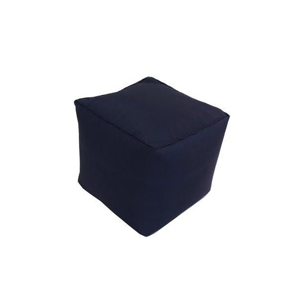 Pouf carré de Bozanto Inc., 18 po x 18 po, noir