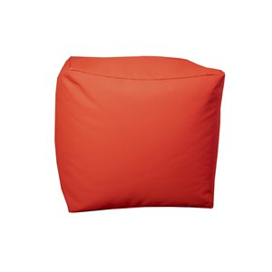 Pouf carré de Bozanto Inc., 18 po x 18 po, rouge
