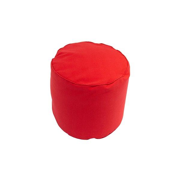 Pouf rond de Bozanto Inc., 16 po x 17 po, rouge