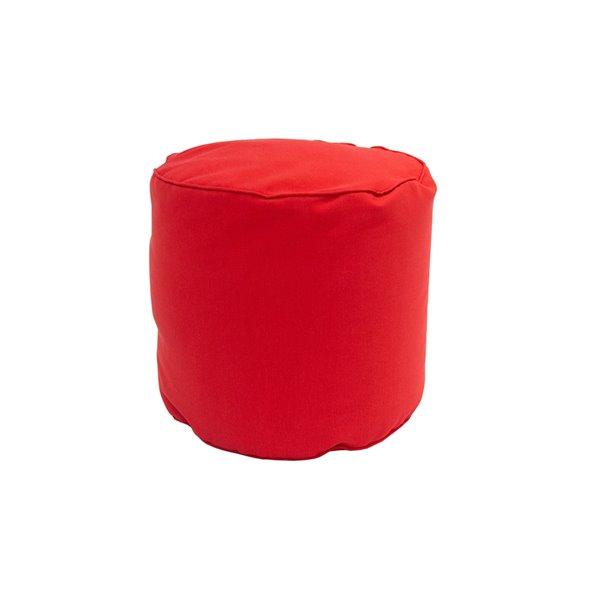 Bozanto Inc. Round Pouffe - 16-in x 17-in - Red