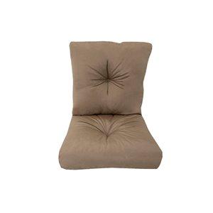 Coussin pour chaise de patio à assise profonde de Bozanto Inc., brun pâle