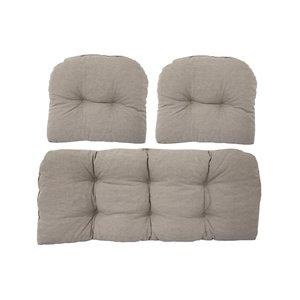 Bozanto Inc. Patio Loveseat Cushion - Beige - 3-Piece