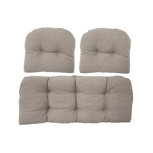 Coussin pour sofa d'extérieur de Bozanto Inc., beige, ens. de 3