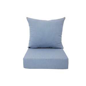 Bozanto Inc. Deep Seat Patio Chair Cushion - Light Blue