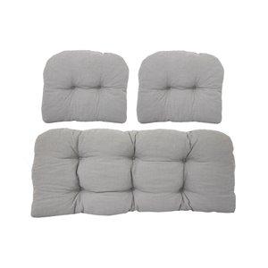 Coussin pour sofa d'extérieur de Bozanto Inc., gris pâle, ens. de 3