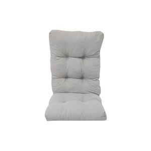 Coussin pour chaise de patio à haut dossier de Bozanto Inc., gris pâle