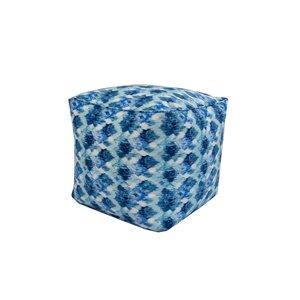 Pouf carré de Bozanto Inc., 18 po x 18 po, bleu