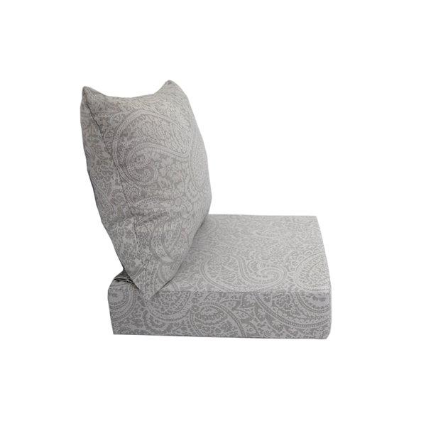 Bozanto Inc. Deep Seat Patio Chair Cushion - Square - Light Grey