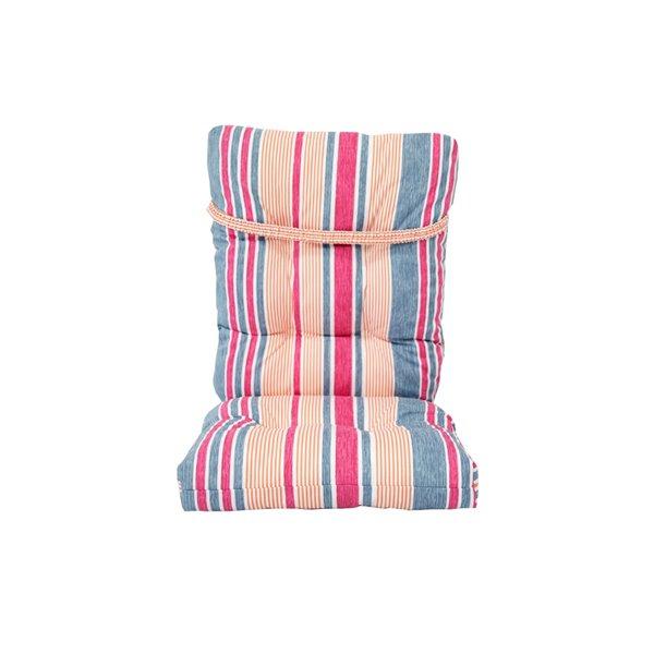 Coussin pour chaise de patio à haut dossier de Bozanto Inc., rayure rose