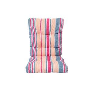 Bozanto Inc. High Back Patio Chair Cushion - Pink Striped Pattern