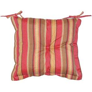 Coussin d'assise pour chaise de patio de Bozanto Inc., rouge et brun