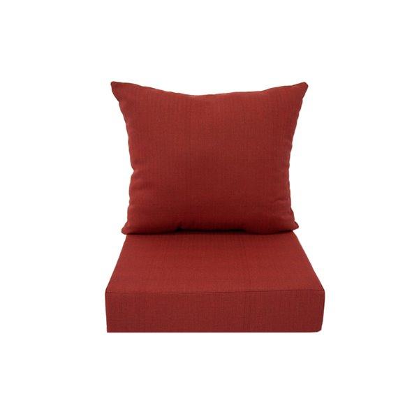 Coussin pour chaise de patio à assise profonde de Bozanto Inc., rouge