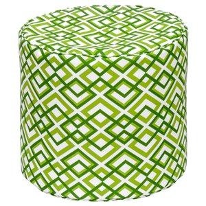 Pouf rond de Bozanto Inc., 16 po x 17 po, vert/blanc