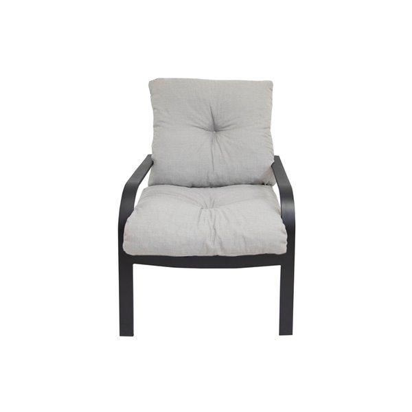 Coussin pour chaise de patio à assise profonde de Bozanto Inc., gris pâle
