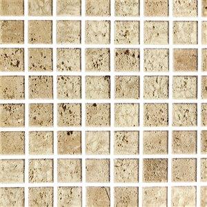 Papier peint en vinyle Falkirk Bhòid par Dundee Deco, motif géométrique, autoadhésif,36 pi², sépia/rouille