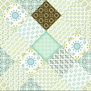 Papier peint en vinyle Falkirk Bhòid par Dundee Deco, motif géométrique, autoadhésif,36 pi², sarcelle/vert