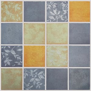 Papier peint en vinyle Falkirk Bhòid par Dundee Deco, motif géométrique, autoadhésif,36 pi², or/olive/étain
