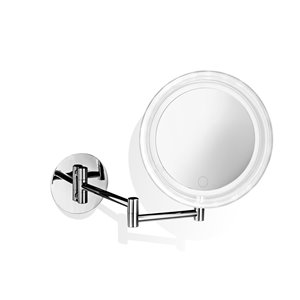 WS Bath Collections Magnifying Wall-Mount Makeup Mirror - Chrome