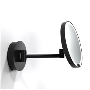 WS Bath Collections Magnifying LED Makeup Mirror - Matte Black